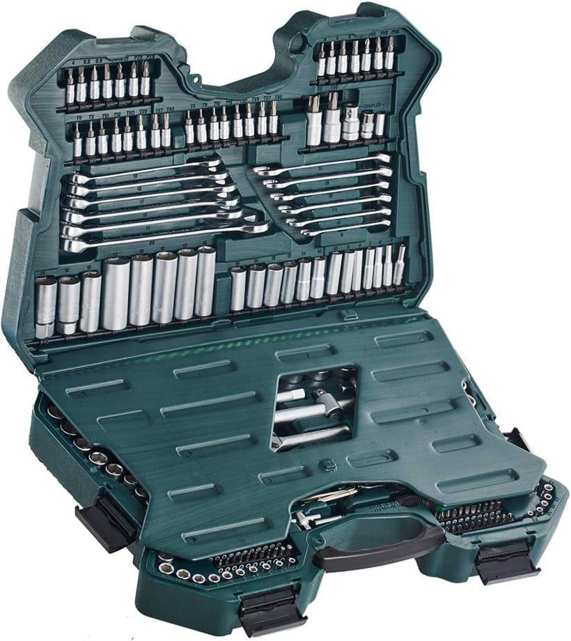 maletin mannesmann de 215 piezas, caja de herramientas mannesmann 215 piezas