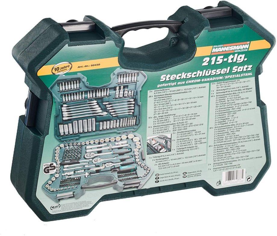 caja de herramientas mannesmann amazon, estuche de herramientas 215 piezas mannesmann m98430